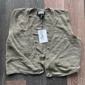 DKNY cropped vest size M